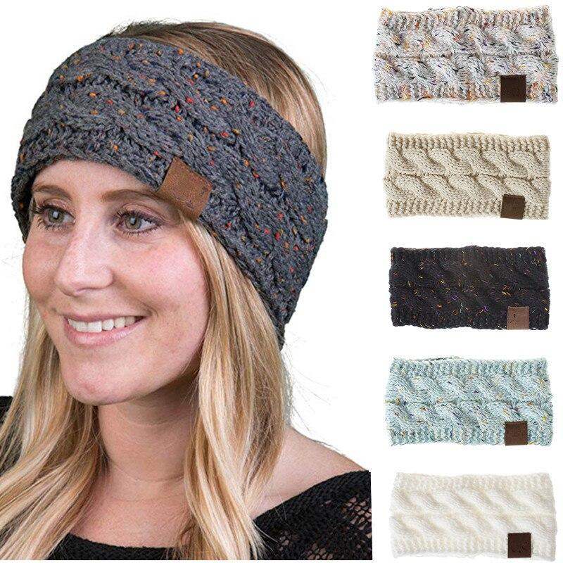 Knitted Crochet Twist   Headwear   Headband Turban Winter Ear Warmer Headwrap Elastic Hair Band for Women's Wide Hair Accessories