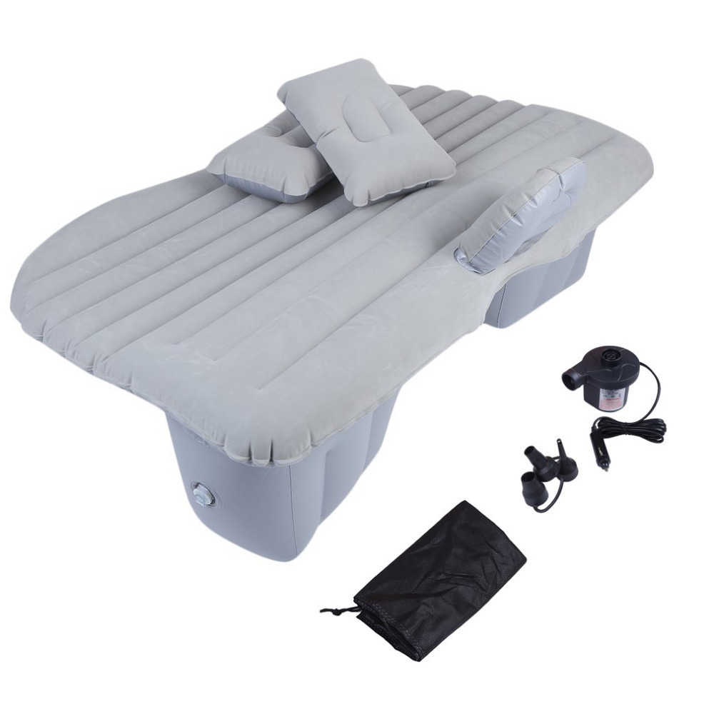 New Auto Mattresses Inflatable Bed Cushion with Car Air Pump Cars Trucks Rear Back Seat Cover Air Travel Thickened Car-styling pillowcase classic style wave pattern car comfy back cushion cover
