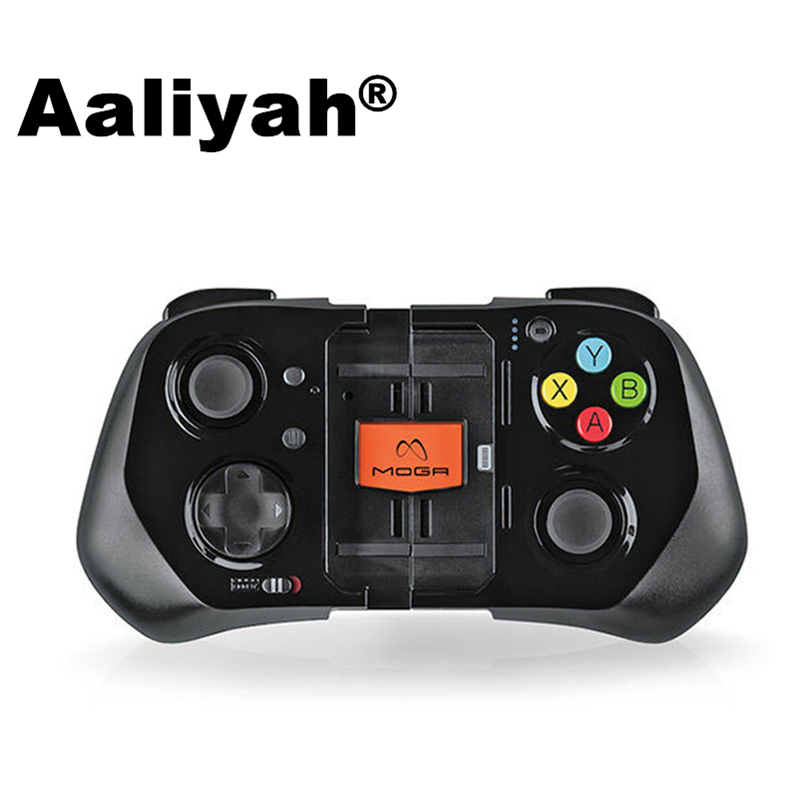 [ZXZ] 2017 MOGA Game Controller Wireless Bluetooth Gamepad Joysticks for iPhone 5 5s SE only PK ps4 NES30 Pro game controller joysticks for iphone ipad tablets more black transparent 2 pcs
