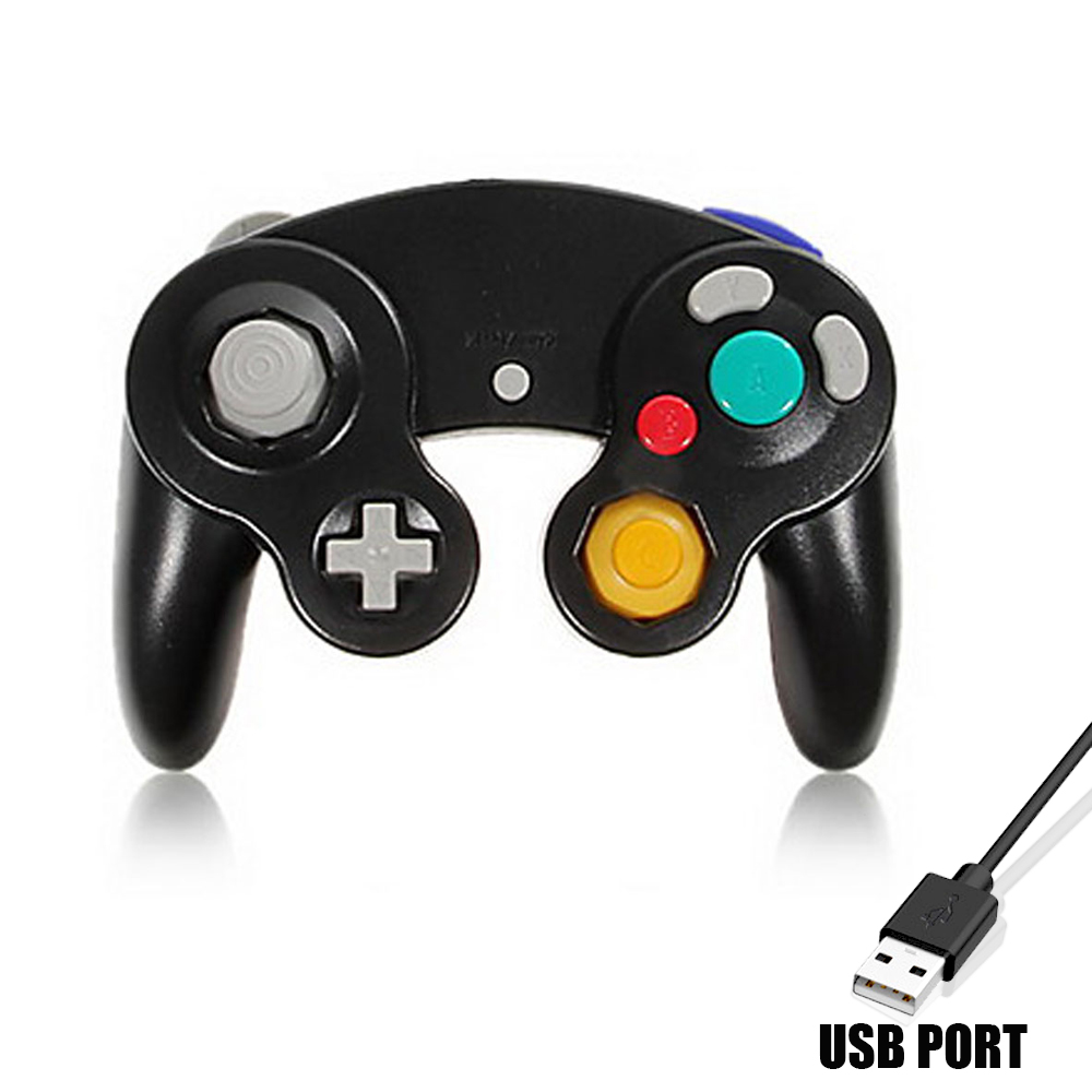 Image 2 - HAOBA Game Shock JoyPad Vibration For Ninten for Wii GameCube Controller for Pad Two kinds interface Multi color optional-in Gamepads from Consumer Electronics
