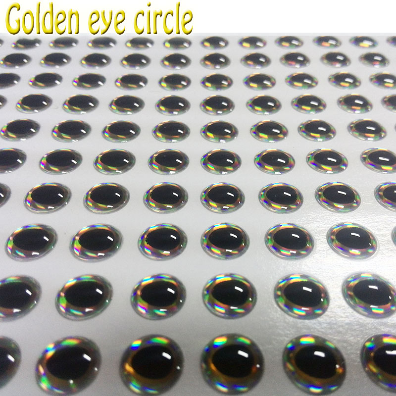 2018HOT 3D fishing lure eyes the golden eyes circle lure eyes 1000pcs/lot its gorgeous and lifelike