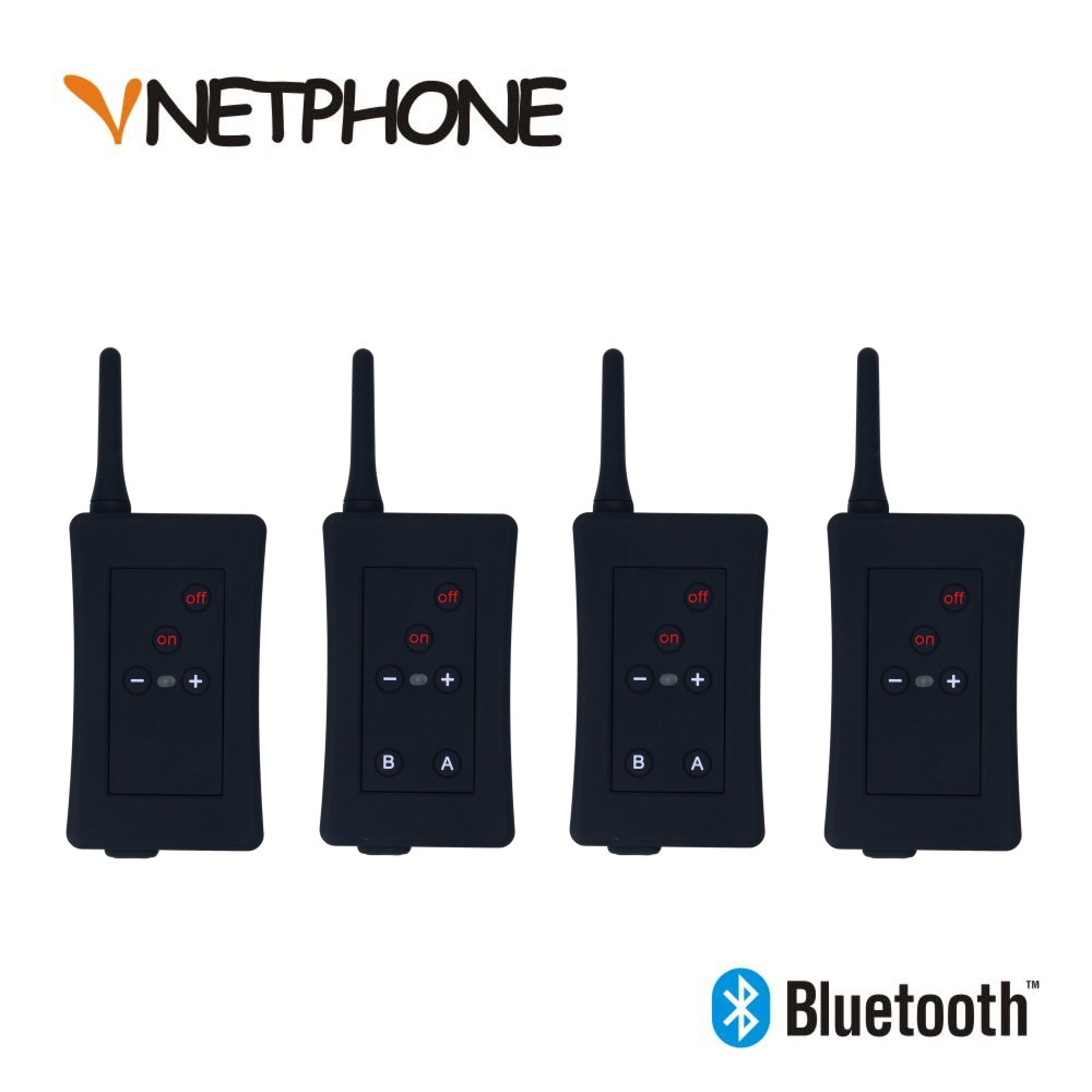 Full Duplex Referee Headset Motorcycle Intercom Soccer Football Bluetooth EJEAS 4 4pcs/Lot