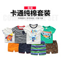 The boy short suit cotton T-shirt 2017 summer new baby's children two piece U2951 shorts