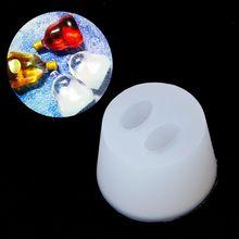 Mini Rum Wine Bottle Pendant UV Resin Casting Mold Silicone Jewelry Tools
