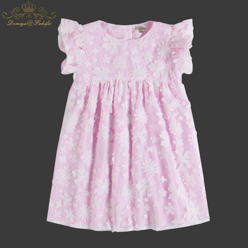Vestidos 2018 Summer Baby Flower Dresses For Weddings Girls Baby Birthday Party Princess Elegant Pink Lace Dresses Tutu 3 Year 2017 fashion summer hot sales kid girls princess dress toddler baby party tutu lace bow flower dresses fashion vestido