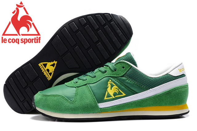 cb5bcb8b0964 ... Milos Running Shoes Green Free Shipping New Styles Le Coq Sportif Men s  Running Shoes Sneakers Green Golden Cololr ...