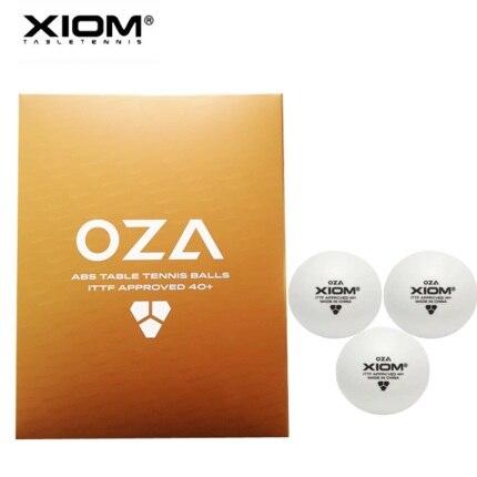 12 balles XIOM 2019 dernières balles de Tennis de Table 3 étoiles OZA (avec couture, ABS 40 +) balles de Ping-Pong en plastique approuvées ITTF