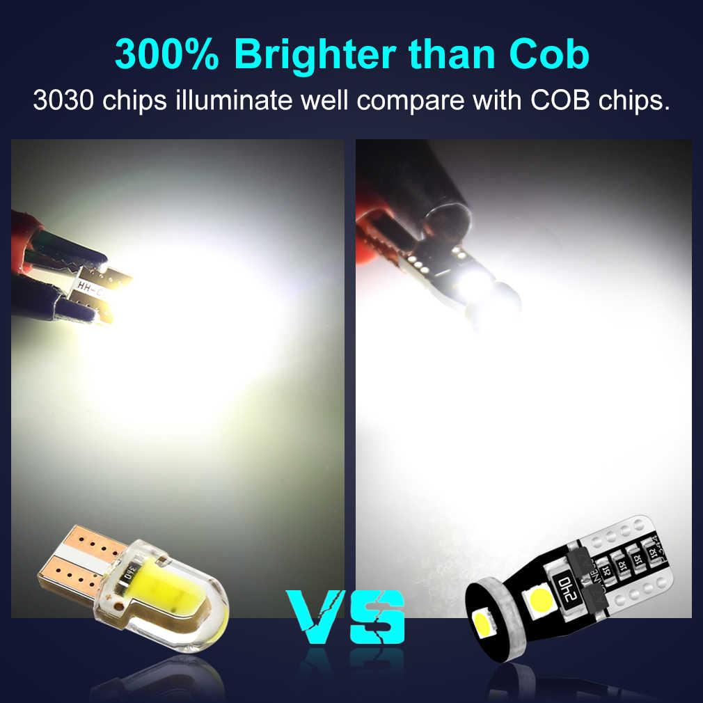 10 Uds T10 Led Canbus W5W bombillas Led 168 194 6000K lámpara de señal blanca Domo lectura matrícula luces interiores para automóvil Auto 12V