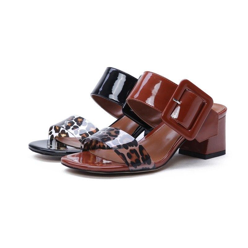 Mode Hauts Du 2019 Morazora Bal Maroon Pvc De Talons Femmes D'été noir Top Sandales Verni Boucle Femme En Qualité Pour Chaussures Cuir Parti 6AqaA8w