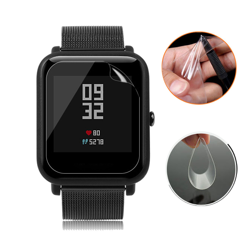 5Pcs Anti-Scratch Tender Extremely Clear Protecting Movie For Xiaomi Huami Amazfit Bip Youth Version Good Watch Display screen Protector Movies