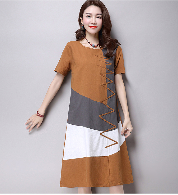 c85ab8817dbf2 Plus Size Clothing Women Loose Casual Dress New 2017 Fashion Korean ...