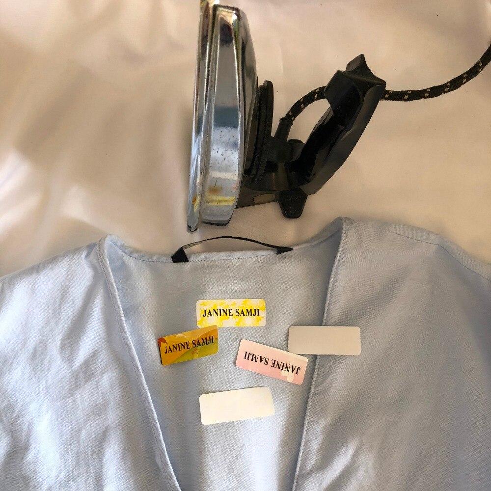 Iron on Name Labels Personalised School Uniform Clothing Tags Waterproof Nursery