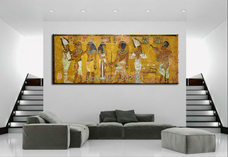 Vintage Egypt Pharaohs King Tut Mural Home Decor Picture Cuadros Painting On Canvasprints