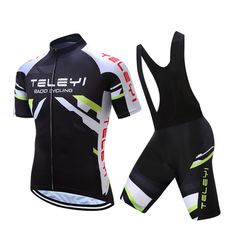 Men/'s Cycling Jersey Bib Short Bike Gel Pad Team Shirt Race Ride Road Top Tight
