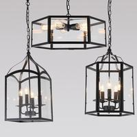 Современные металлические подвесные светильники промышленные шестиугольные стеклянные подвесные светильники Ресторан Бар Кафе Лофт кори