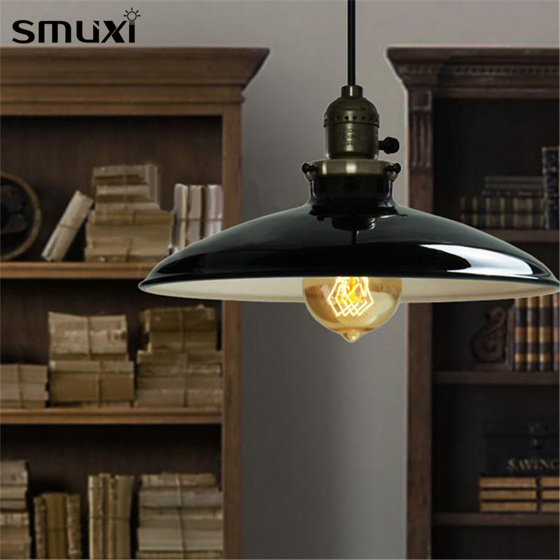 Smuxi Pendant Lights E27 60W Loft Retro Industrial Vintage Ceiling Hanging Light Chandelier Pendant Lamp Fixture Indoor Lighting 9lights e27 diy ceiling spider pendant lamp shade light antique classic adjustable retro chandelier dining home lighting fixture