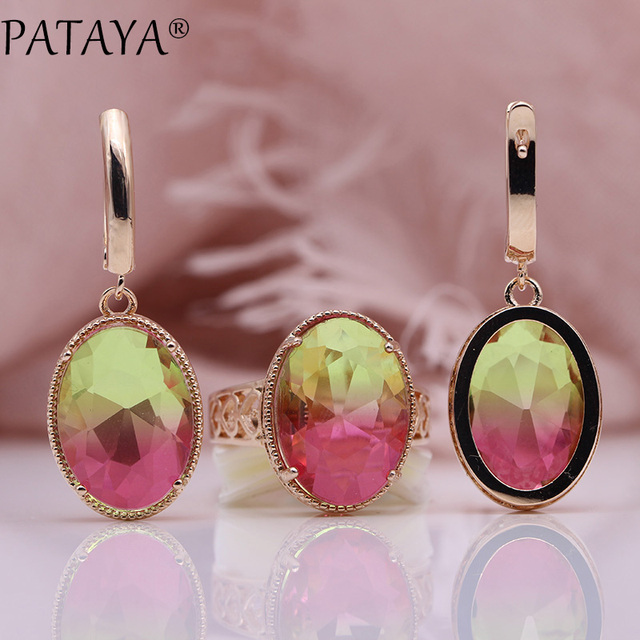 PATAYA Oval Long Earrings...