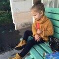 Del Muchacho del bebé Ropa de Cuello Alto Suéter Caliente Niños Toddler Kids Jersey de Cuello Vuelto jersey de Cuello Alto Invierno Otoño Suéter de Punto Flojo Top