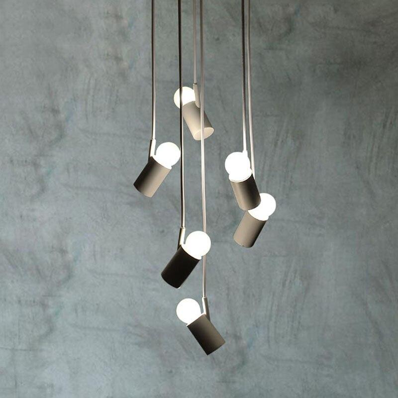 LED Pendant Lighting Light Modern Chandelier Lamp AC 110V To 240V 6 Bulbs Minimalist Ceiling Lamps