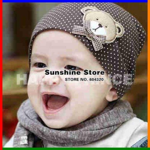 bear cap fashion baby boy hat kids infant beanies autumn love cap infant  toddler things costume  2C2535 10 pcs lot(8 colors) 15456f54512