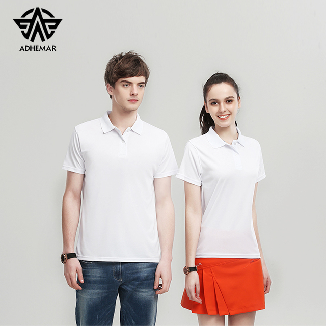 Adhemar short sleeved polo shirt for sports quick-drying slim clothes outdoor tennis shirt men/women breathable golf shirt