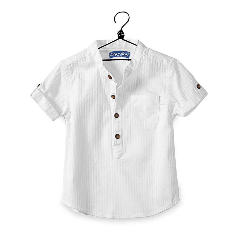 2018 Casual Baby Children Boy Cotton Short Sleeve Blouse For Summer Kids Boys White Shirts Moderate Price