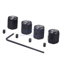 4pcs/Lot Black Color Metal Anti Theft Tire Valve Caps Valve Stem Caps Air Cover Caps for Nissan