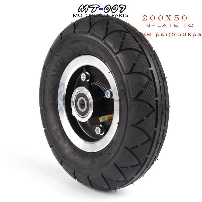 200x50 Electric Scooter Tyre With Wheel Hub 8 Scooter Tyre Aluminium Alloy Wheel Pneumatic Tire Inflation Electric Vehicle