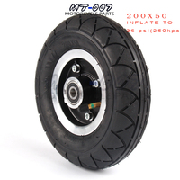 "200x50 Electric Scooter Tyre With Wheel Hub 8"" Scooter Tyre Aluminium Alloy Wheel Pneumatic Tire Inflation Electric Vehicle