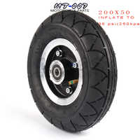 """200x50 Electric Scooter Tyre With Wheel Hub 8"""" Scooter Tyre Aluminium Alloy Wheel Pneumatic Tire Inflation Electric Vehicle"""