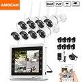 8-КАНАЛЬНЫЙ 960 P Беспроводной WI-FI Камеры Безопасности Системы 8 шт. 1.3MP WIFI Пуля IP Камеры 8 канала 960 P NVR с 11 дюймов HD Монитор Записи