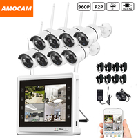 8CH 960P Wireless WIFI Security Camera System 8pcs 1 3MP WIFI Bullet IP Cameras 8channel 960P