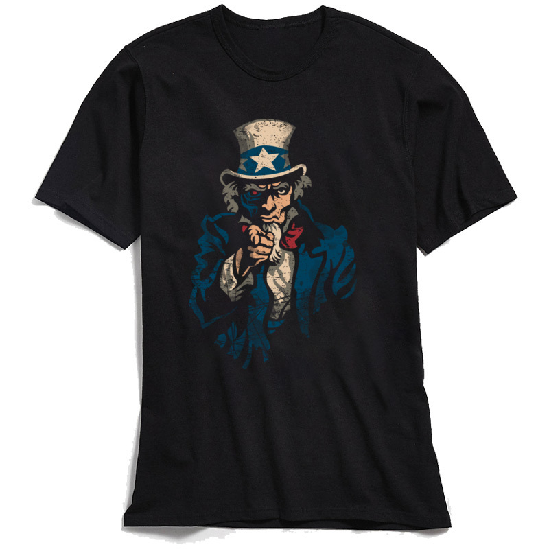 Designer Men T Shirt I Watch You Retro Black T shirt Uncle Sam Funny Tshirts 100 Cotton Short Sleeve Fashionable Clothing 90s in T Shirts from Men 39 s Clothing