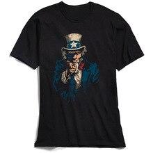 Designer Men T Shirt I Watch You Retro Black T-shirt Uncle Sam Funny Tshirts 100% Cotton Short Sleeve Fashionable Clothing 90s