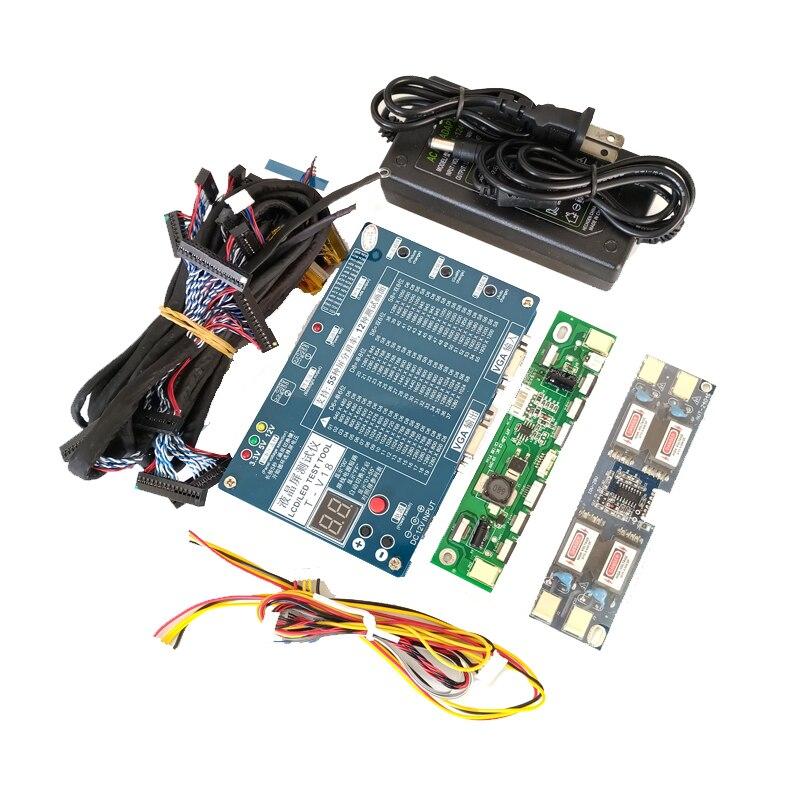 Ordinateur portable TV/LCD/LED Outil de Test kit led testeur de panneau de Soutien 7-84 pouce LVDS interface 14 /écran ligne + haute-pression conseil + adaptateur