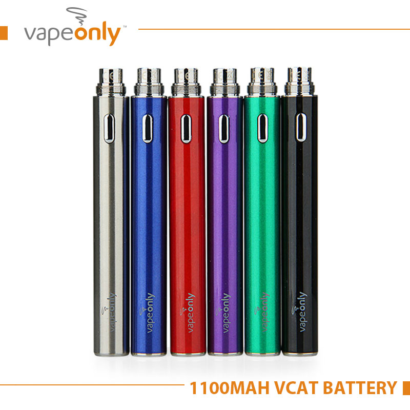 Original VapeOnly vCat 1100mAh E Cigarette Battery for 510 eGo Thread Tank Atomzier Electronic Cigarette Battery
