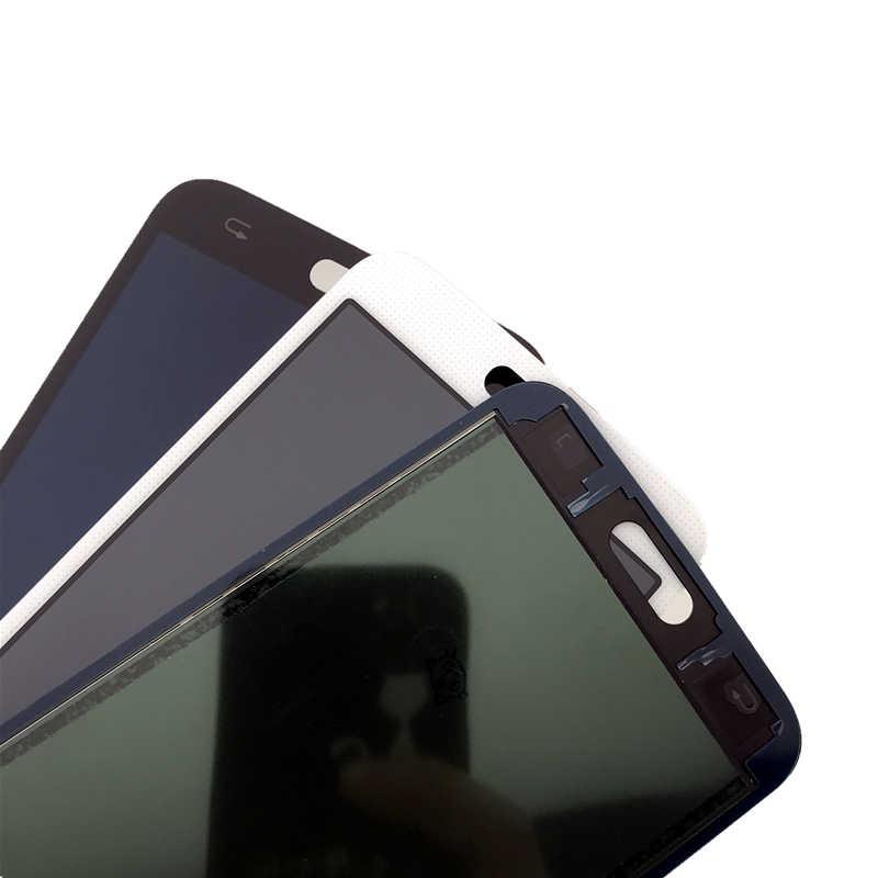 G900 i9600 شاشات lcd لسامسونج غالاكسي S5 SM-G900 G900F G900 I9600 شاشة الكريستال السائل مجموعة المحولات الرقمية لشاشة تعمل بلمس سطوع التحكم