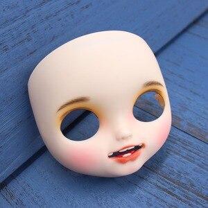 Image 3 - Blyth doll glacé personnalisé visage bouche ouverte avec dents langue peau blanche lèvres sculpte le visage des sourcils avec plaque arrière et vis