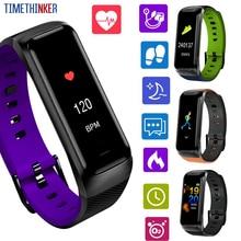 Timethinker Smart Bracelet Bluetooth Smartwatch Blood Pressure Heart Rate Monitor Pedometer 0.96 Smartband Fitness Tracker B02 x9 bluetooth 4 0 heart rate monitor smartband tpu strap black