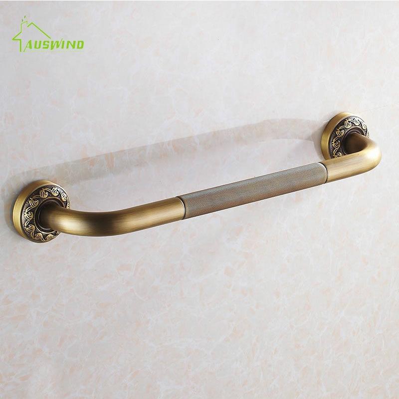 ヾ(^▽^)ノBañera baño Seguridad barra negro latón antiguo tallado