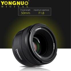 Yongnuo yn50mm f1.8 grande abertura lente de foco automático para nikon d800 d300 d700 d3200 d3500 d5100 d5200 d5300 dslr lente da câmera