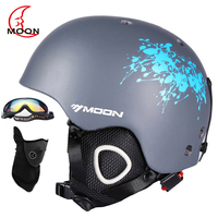 MOON In Mold Ski Helmet Safety Skiing Helmet CE Certification Skating Skateboard Snowboard Helmet Size 52
