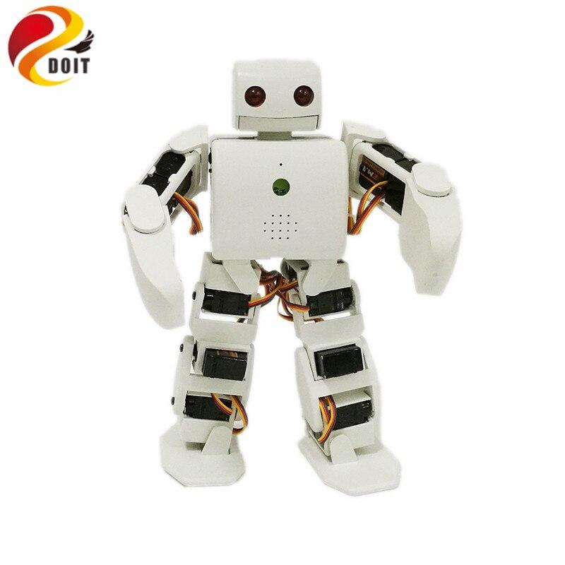 DOIT 3D Printer Humanoid Robot APP Control with 18pcs Servos+ Control Board+ ChargerDOIT 3D Printer Humanoid Robot APP Control with 18pcs Servos+ Control Board+ Charger