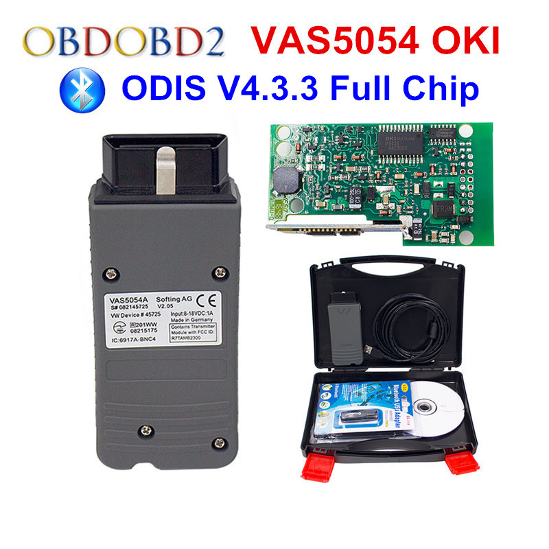 OKI Full Chip VAS 5054A VAS5054A ODIS V4.33 With UDS Protocol VAS5054 Keygen 4.3.3 Multi-Languages VAS 5054 Free Ship newest vas5054a with oki keygen full chip vas5054 bluetooth odis 4 3 3