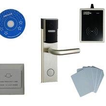 T57 набор системы замка отеля, включает T57 замок отеля, usb гостиничный кодер, энергосберегающий переключатель, T57 карта, sn: 8003-kit