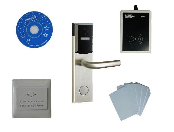 T57 hotel lock system kit, include T57 hotel lock,usb hotel encoder,energy saving switch,T57 card , sn:8003 kit