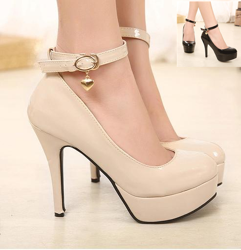 Women Elegant Ankle Strap Pumps