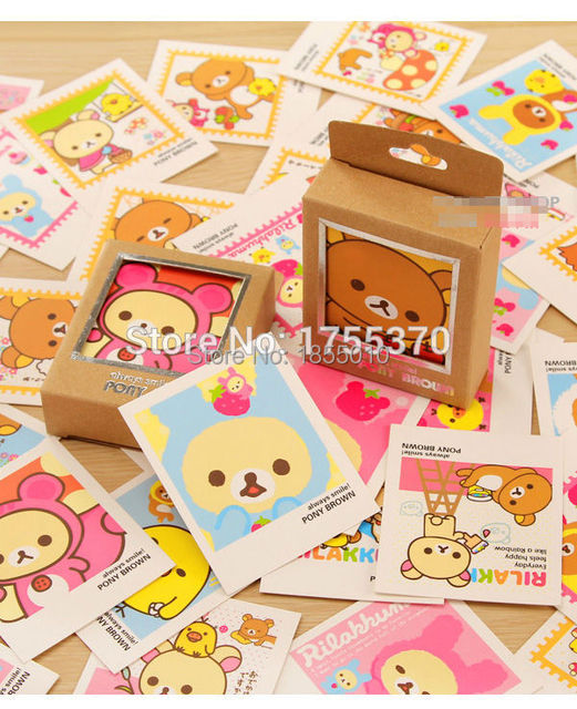 40 pcs colorful cartoon rilakkuma single page type greeting cards 40 pcs colorful cartoon rilakkuma single page type greeting cards cute stamp postcard set gift m4hsunfo