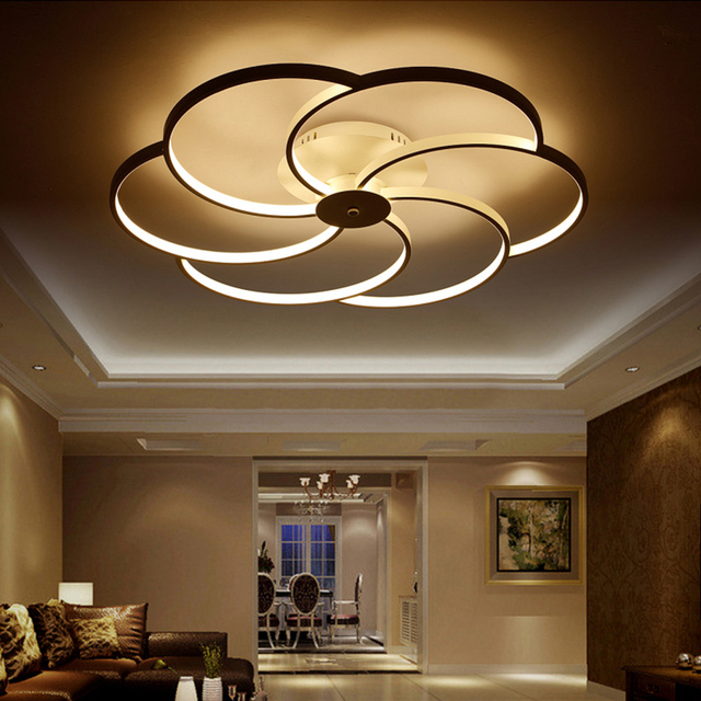 Modern Led Ceiling Lamp Lighting Fixtures Tavan Aydinlatma Luminaria Lamparas De Techo Living Acrylic Bedroom Lights