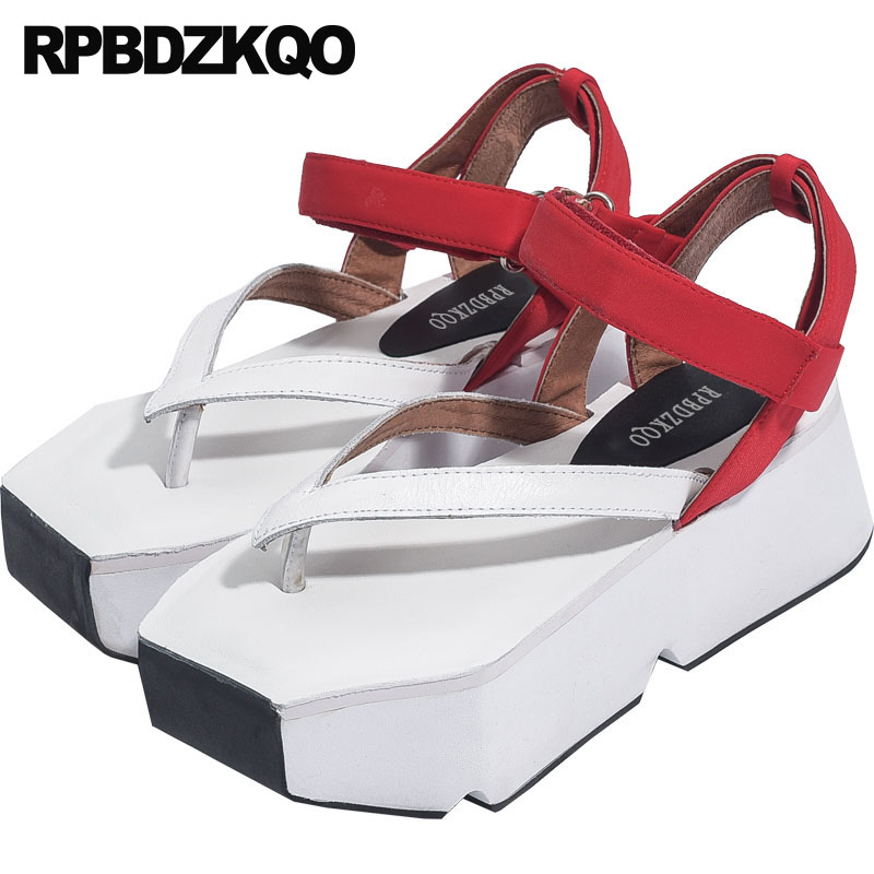Flatform Strappy 2018 Pumps Thong Strap Slingback Designer Sandals Women Luxury 2017 Shoes Ankle Genuine Leather Red High Heels цена